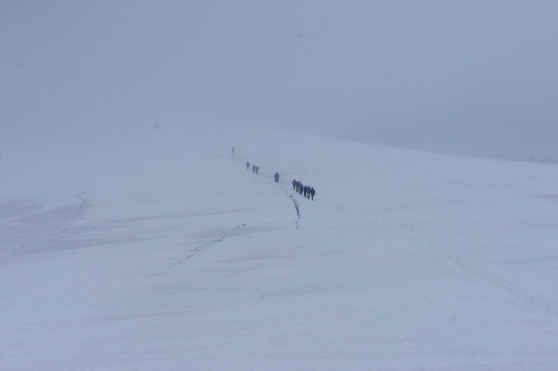 Björlings glaciär östra leden kebnekaise