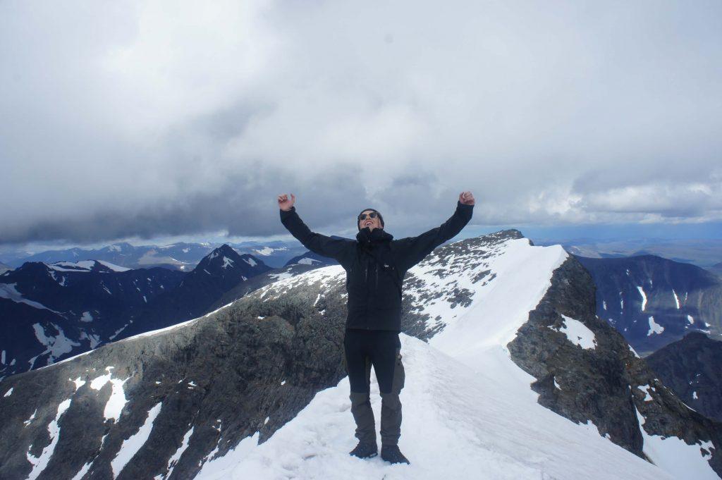 Jag på toppen av Kebnekaise